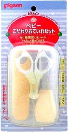 【日本直邮】贝亲/Pigeon 婴儿日常护理套装(指甲剪+吸鼻器+发刷+镊子)