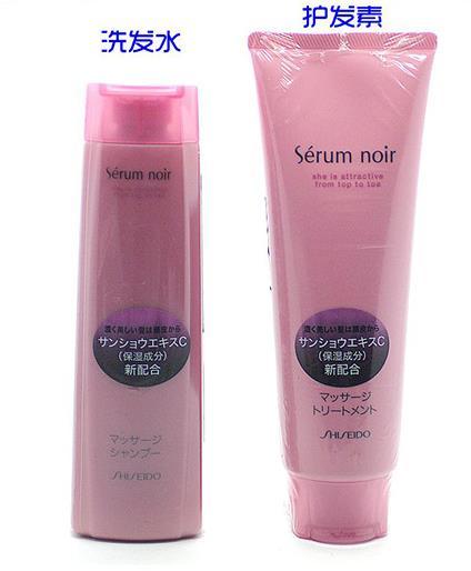 【日本直邮】资生堂/Shiseido  Serum noir女性专用防脱发增发生发 不老林护发套装 240ml+240g