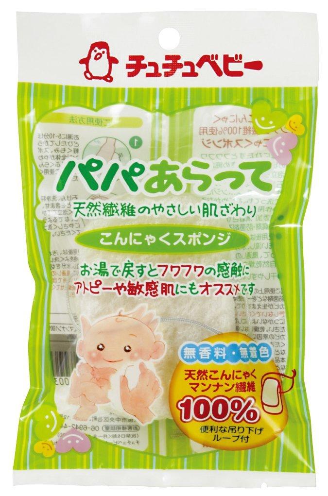 【日本直邮】啾啾/CHUCHU BABY 爸爸洗浴魔芋海棉 手感蓬松柔软