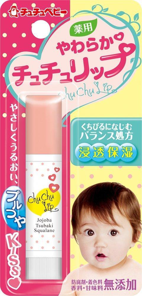 【日本直邮】啾啾/CHUCHU BABY 药用柔软宝宝润唇膏 4g