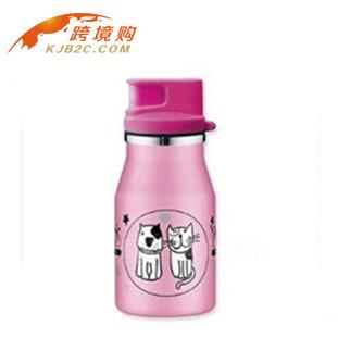 【包邮】【保税区闪送】德国进口ALFI儿童不锈钢保温杯粉色350ml 杯身印猫狗款 艾飞德国原装进口