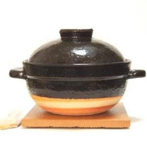 【日本直邮】长谷园 土锅(直火专用)煮饭锅 2碗米 CT-03(备货期2周左右)