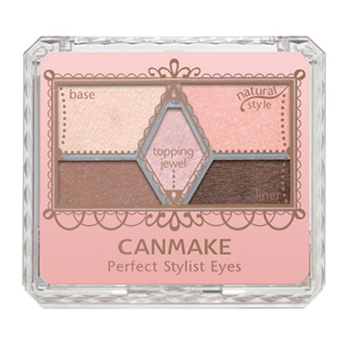 【日本直邮】井田/CANMAKE 完美雕刻裸色珠光眼影 5色眼影组合 内含眼影棒 04 暧昧棕色