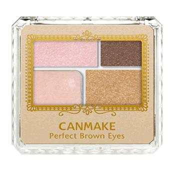 【包邮】【上海现货】井田/CANMAKE 完美裸妆大地棕色系眼影 4色眼影组合 内含眼影棒 04 甜美棕