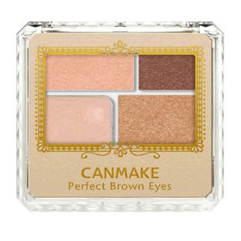 【日本直邮】井田/CANMAKE 完美裸妆大地棕色系眼影 4色眼影组合 内含眼影棒 05 自然棕