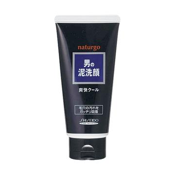 【日本直邮】资生堂/Shiseido  naturgo 男士天然矿物泥洗面乳/洗颜泥 130g 净爽黑泥