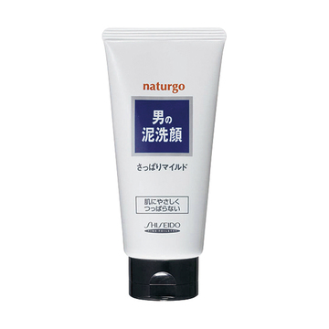 【日本直邮】资生堂/Shiseido  naturgo 男士天然矿物泥洗面乳/洗颜泥 130g 温和白泥