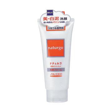 【日本直邮】资生堂/Shiseido  naturgo 天然泥美白洗面奶 白泥