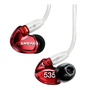 【日本直邮】Shure/舒尔 SE535LTD 三单元动铁入耳式耳机 红色特别版
