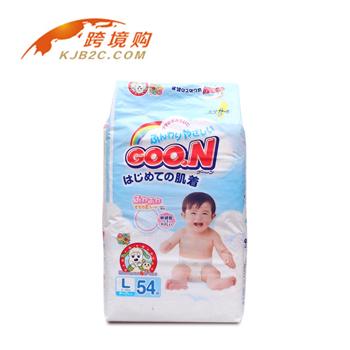 【包邮】【保税区闪送】大王/Goo.n 纸尿裤L54 适合9~14kg宝宝