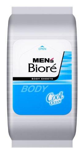 【日本直邮】碧柔/Biore  男士用瞬间冷却防臭除菌湿巾 清爽海洋 32枚