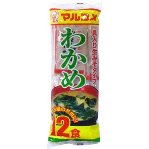 【日本直邮】丸米新即席生酱汤裙带菜12饮食×12袋