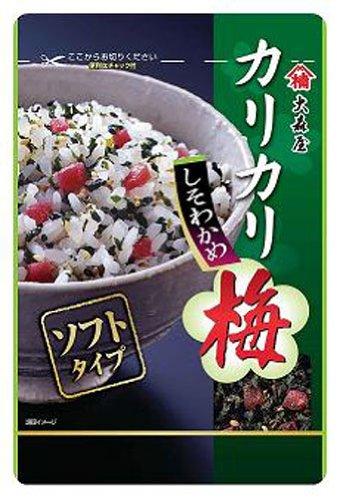 【日本直邮】大森屋脆脆的梅花紫苏裙带菜40克×10个