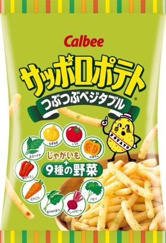 【日本直邮】卡乐比/Calbee  北海道札幌土豆蔬菜薯条24个小袋*24克