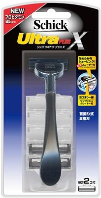【日本直邮】Schick/舒适 超凡加滑Ultra PLUS 2刃支架1个(2个替换刃)