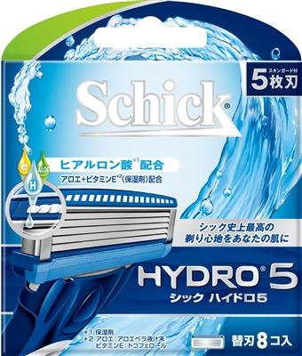 【日本直邮】Schick/舒适  HYDRO 5 水次元剃须刀片5枚刃8片装一盒