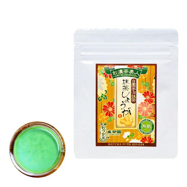 【日本直邮】京都东茶园/Azuma 无糖抹茶生姜 40g