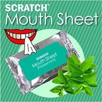 【日本直邮】SCRATCH MOUTH SHEET 清洁美白牙齿/预防口臭  薄荷款牙贴 一盒10枚入