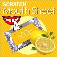 【日本直邮】SCRATCH MOUTH SHEET 清洁美白牙齿/预防口臭  柚子款牙贴 一盒10枚入