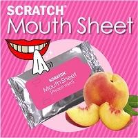 【日本直邮】SCRATCH MOUTH SHEET 清洁美白牙齿/预防口臭  水蜜桃款牙贴 一盒10枚入