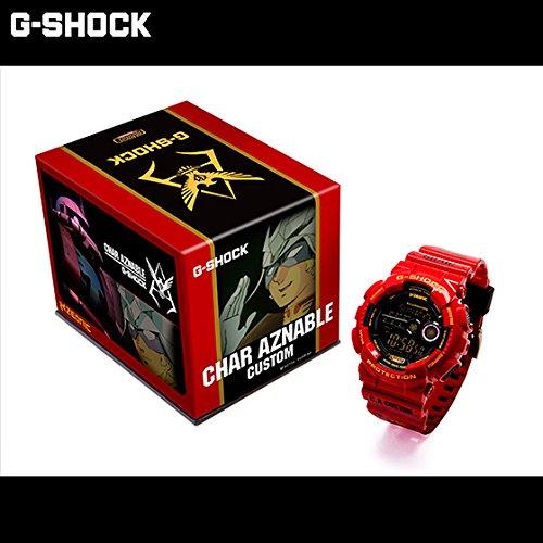 【日本直邮】万代/Bandai 机动战士高达35周年纪念商品夏亚专用G-SHOCK  赤色彗星夏亚电子手表