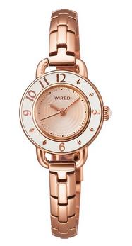 【日本直邮】精工/SEIKO 手表 WIREDf AGEK406玫瑰金时尚圆形石英表女表(采购不到)
