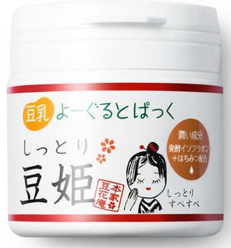 【日本直邮】本家豆花庵 豆姬酸奶水洗面膜  150g