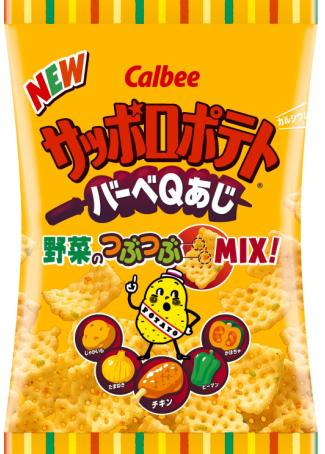 【日本直邮】卡乐比/Calbee  北海道札幌烧烤味薯片24克*24个小袋
