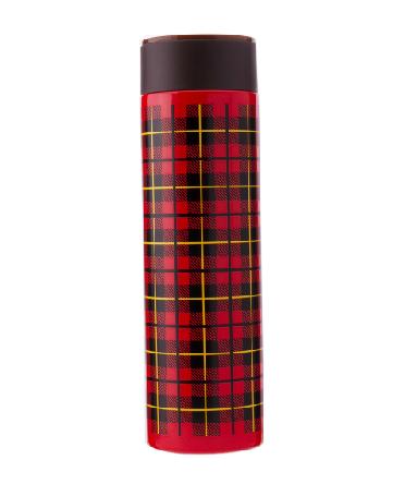 【包邮】【保税区闪送】孔雀/PEACOCK FJK50系列 不锈钢马克保温杯 0.5L 红灰方格