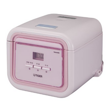 【日本直邮】虎牌/Tiger  JAJ-A551PB迷你电饭煲110v  3人用  粉白色
