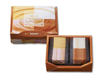 【包邮】【日本直邮】ROYCE  北海道4种口味牛奶巧克力片共40枚(各10枚)2盒装(原本是2盒装,条形码是1盒装)