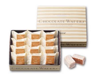 【包邮】【日本直邮】ROYCE  北海道提拉米苏酱白巧克力威化饼干礼盒12枚 3盒