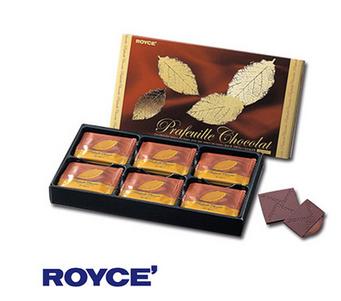 【包邮】【日本直邮】ROYCE  北海道咖啡夹心巧克力薄片礼盒 30枚 2盒