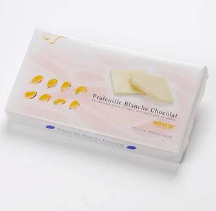 【包邮】【日本直邮】ROYCE  北海道原味白巧克力薄片礼盒 30枚  2盒装