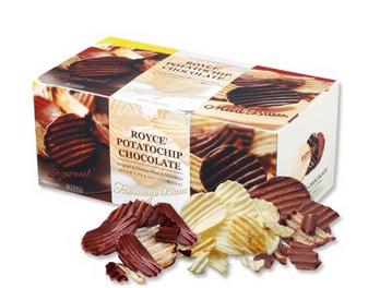 【包邮】【日本直邮】ROYCE  原味+焦糖味+奶酪味三种口味巧克力薯片组合装 570g