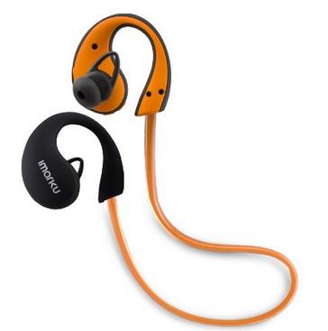 【日本直邮】艾玛酷/Imarku  Bluetooth 4.0挂耳式高音质运动蓝牙耳机 橘色
