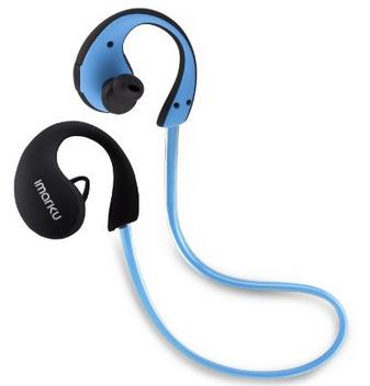 【日本直邮】艾玛酷/Imarku  Bluetooth 4.0挂耳式高音质运动蓝牙耳机 蓝色
