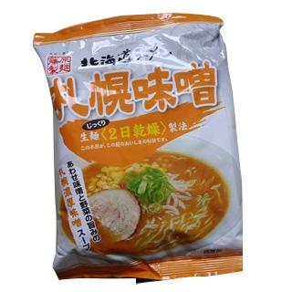 【日本直邮】北海道 札幌味噌风味北海道拉面124g/袋(面:80g、调料44g)