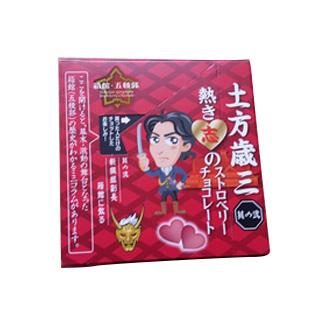 【日本直邮】北海道特产 土方岁三(其二) 热情意志之草莓巧克力45g/盒