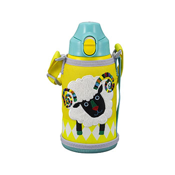 【包邮】【中国现货】虎牌/TIGER 撒哈拉动物系列之绵羊 冷热两用不锈钢真空儿童保温杯 MBR-A06G-Y(不含吸管)