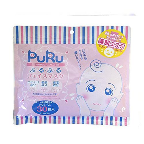 SPC  PURU 4GF保湿玻尿酸弹力紧致修复滋养面膜 30片