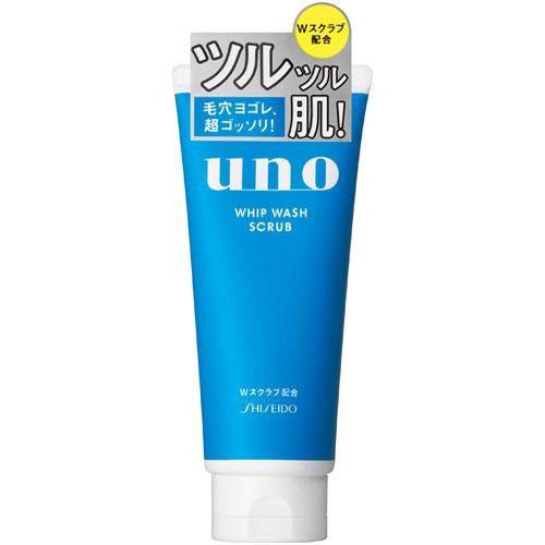 资生堂/SHISEIDO UNO吾诺 男士洗面奶  130g 深层净爽磨砂洁面乳(蓝色)