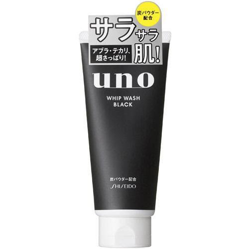 资生堂/SHISEIDO UNO吾诺 男士洗面奶  130g 黑炭强力劲爽控油洁面膏(黑色)