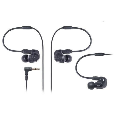 铁三角/AUDIO TECHNICA Technica 双动圈监听入耳式耳机/耳塞 ATH-IM50 黑色 可换线