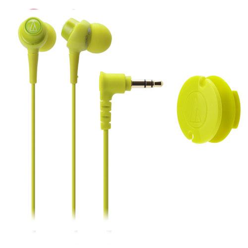 【包邮】【保税区闪送】日本铁三角耳机ATH-CKL203-LGR 绿色不带线控 AUDIO TECHNICA日本原装进口