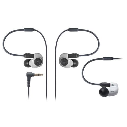 铁三角/AUDIO TECHNICA ATH-IM50双动圈监听耳塞可换线入耳式耳机 白色