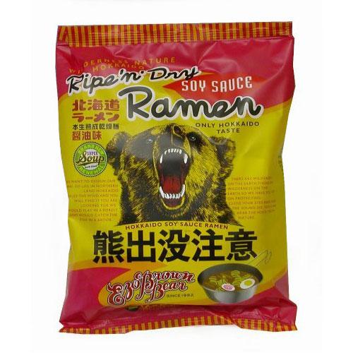 藤原制面 熊出没注意 北海道日式拉面 酱油味方便面