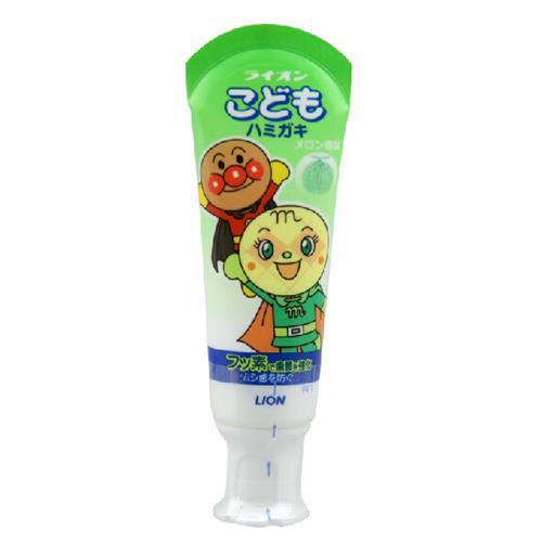 【包邮】【保税区闪送】狮王/LION  面包超人木糖醇儿童牙膏 哈密瓜味 40g