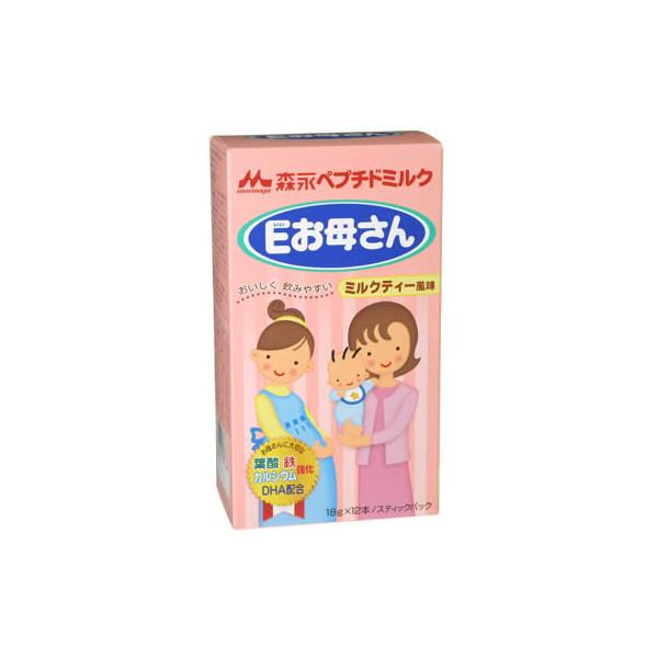 森永/MORINAGA 孕妇奶粉/妈妈营养奶粉(E妈妈)奶茶口味 18g×12条