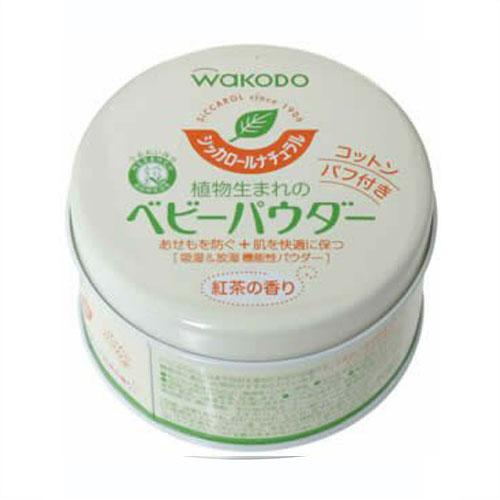 和光堂/WAKODO 纯天然植物玉米淀粉婴儿爽身粉 120g 红茶香